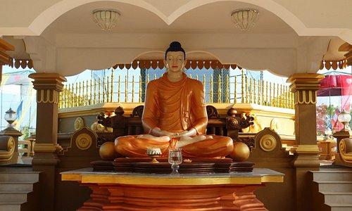 Main Buddha image at the Bodhi Tree Shrine at Mahamevnawa Anuradhapura