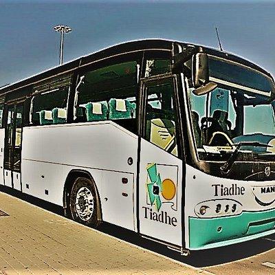Un autobús o guagua de Tiadhe
