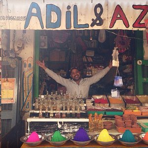 This is adil in his shop where all ththe volunteers. Yoga students. And tourist can chill out. T