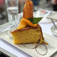 Deliciously moist orange cake