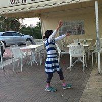 An Israeli girl dances for her felafel balls