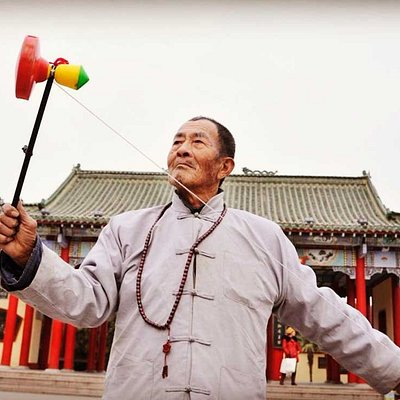 Play Diabolo,Beijing Folk Activity