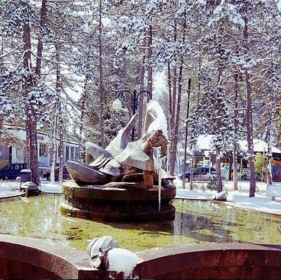 La fontana ghiacciata