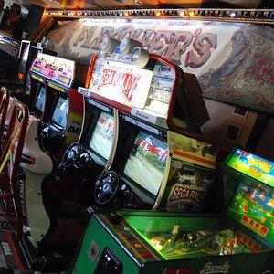 Retro video and arcade games