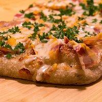 Pizza de calabaza. Pumpkin pizza