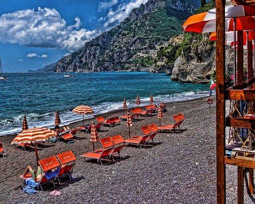 Bagni d'Arienzo Beach Club amazing view. Positano, Amalfi Coast