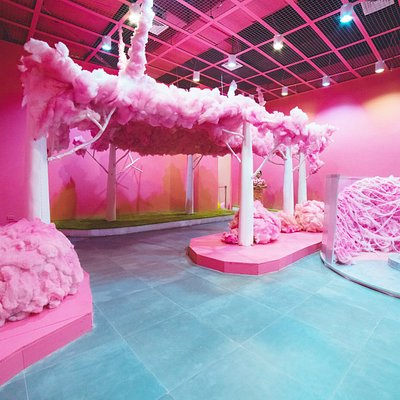 Cotton Candy Tree Tunnel