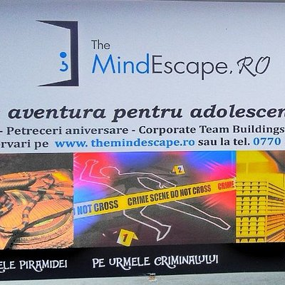 To easily identify The MindEscape Ploiesti building, that's the banner you will see from the str