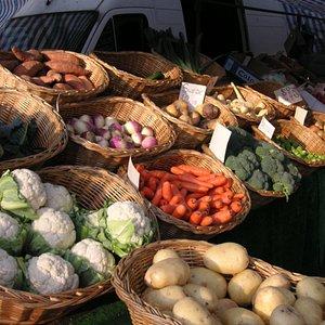 Fresh produce every Saturday