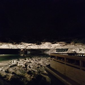 This was a sneeky photo we took of the salt lake over 150 meters underground.