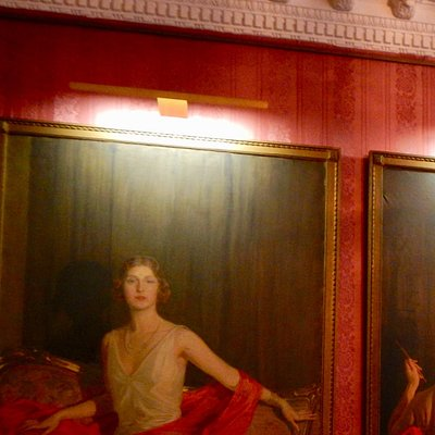 Three paintings of his wife, designed for personal showing