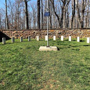 Grave markers of 54 Union soldiers