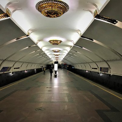 Inside metro station