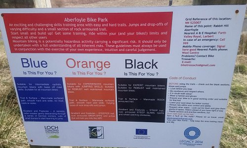 Safety Notices at Bike Park