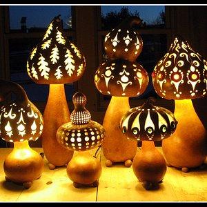 Homegrown organic lamps!