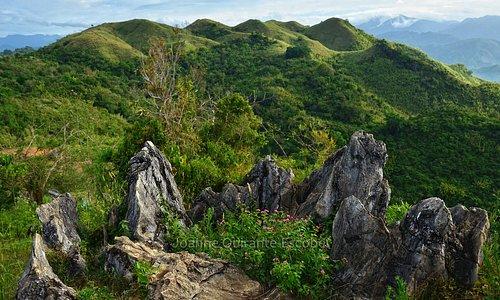 rock formations at Treasure Mountain