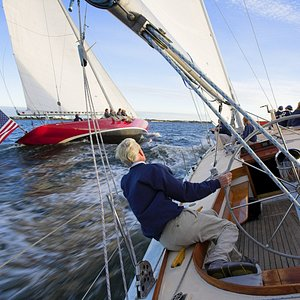 At the helm of Weatherly chasing American Eagle - this could be you