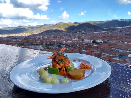 Finest Peruvian Dish in the best view point of Cusco