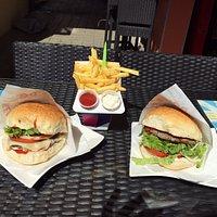 Cheeseburger Hamburger Pommes Frittes