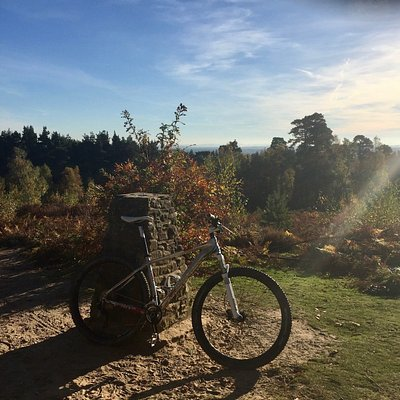 At the top of Hydon's Ball - best done on an electric bike!