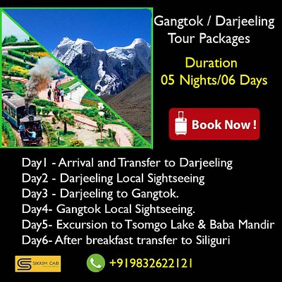 Darjeeling GangtokTour Packages call for booking +919832622121