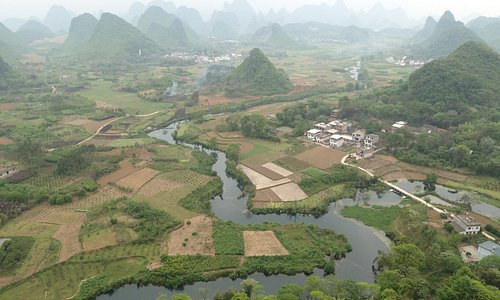 View from Wu Zhi Shan, Cui Ping village, near town of Putao, N of Yangshuo
