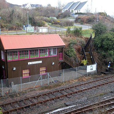 The old signal box is part of the museum