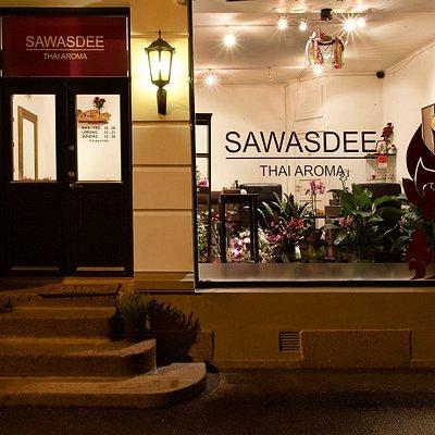 Storefront seen from outside. Thai massasje Frogner i Oslo