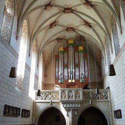 St.Lorenz - Orgel im gotischen Anbau der Kirche (Westseite)