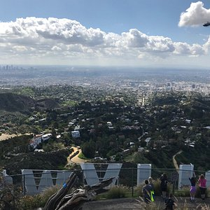 The best way to see Los Angeles? From the top of the Hollywood Sign, of course!