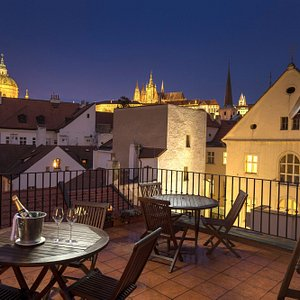 Hotel Pod Vezi - roof terrace view - - guest´s chill out zone
