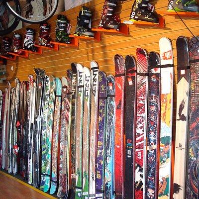 Un vistazo de la tienda de Ski