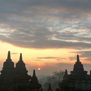 Borobudur Budhist Temple - Sunrise View