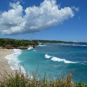 Clean white sandy beaches