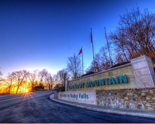 Sunrise at Ruby Falls.  PC: Matt S