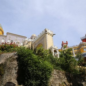 The most famous building in Sintra is Pena Palace.