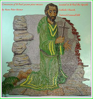 30,000 piece mozaic of St Paul by Hans Peter Steiner located in St Paul the Apostle Catholic Chu