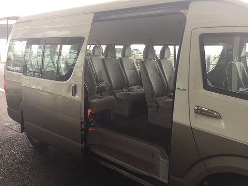 Picture of the interior of van.