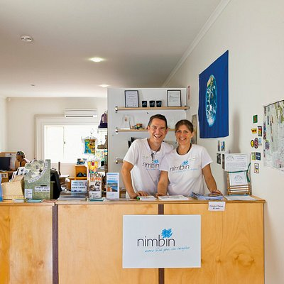 Visitor Centre Staff at Nimbin Visitor Information Centre