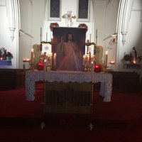 Divine Mercy Image for Devotion there is also a fixed Divine Mercy Shrine