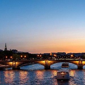 Paris Eiffel Tower and Seine river
