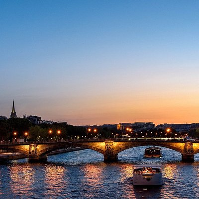 Paris Eiffel Tower and Seine river
