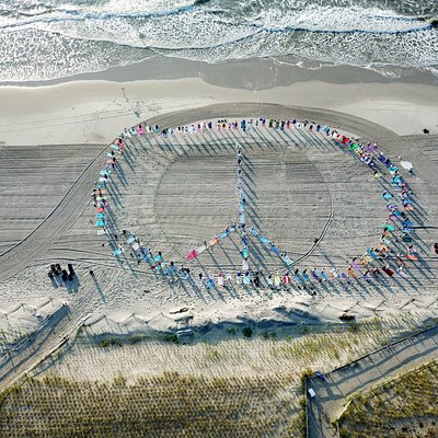 Pose for Peace where we create a peace sign and share our yoga for charity.