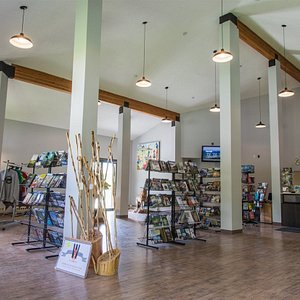 Inside the Fernie Visitor Information Centre