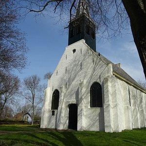 """""""Het Witte Kerkje van Groet uit 1639-Hervormde Kerk Groet"""""""