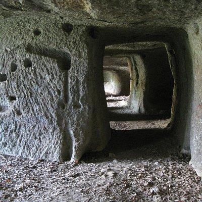 il lungo corridoio della grotta