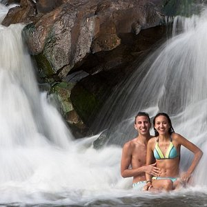 Great way to end the tour, swimming in a natural waterfall pool in the forest.