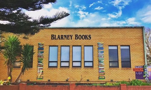 Blarney Books & Art, now with book stacks by artist Jodi Wiley!
