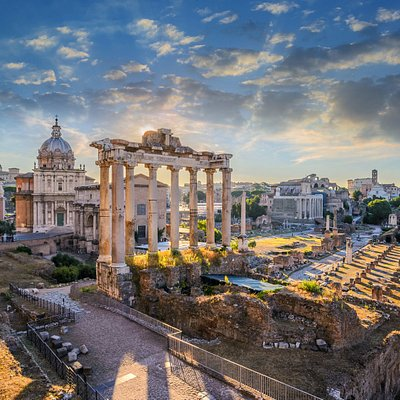 Ancient Rome in the morning light