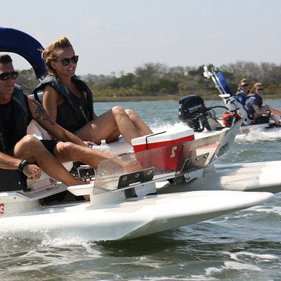 These catamarans are a blast to drive!